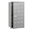 Salsbury Industries 3621AFU 4B+ Horizontal Mailbox - 21 A Doors (20 usable) - Aluminum - Front Loading - USPS Access