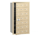 Salsbury Industries 3621SFU 4B+ Horizontal Mailbox - 21 A Doors (20 usable) - Sandstone - Front Loading - USPS Access