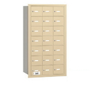 Salsbury Industries 3621SRP 4B+ Horizontal Mailbox - 21 A Doors - Sandstone - Rear Loading - Private Access