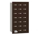 Salsbury Industries 3621ZRP 4B+ Horizontal Mailbox - 21 A Doors - Bronze - Rear Loading - Private Access