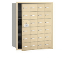 Salsbury Industries 3624SFU 4B+ Horizontal Mailbox - 24 A Doors (23 usable) - Sandstone - Front Loading - USPS Access