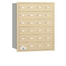 Salsbury Industries 3624SRP 4B+ Horizontal Mailbox - 24 A Doors - Sandstone - Rear Loading - Private Access