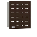Salsbury Industries 3624ZRU 4B+ Horizontal Mailbox - 24 A Doors - Bronze - Rear Loading - USPS Access