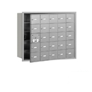 Salsbury Industries 3625AFU 4B+ Horizontal Mailbox - 25 A Doors (24 usable) - Aluminum - Front Loading - USPS Access