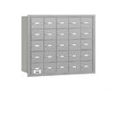 Salsbury Industries 3625ARP 4B+ Horizontal Mailbox - 25 A Doors - Aluminum - Rear Loading - Private Access