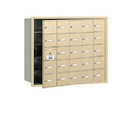 Salsbury Industries 3625SFU 4B+ Horizontal Mailbox - 25 A Doors (24 usable) - Sandstone - Front Loading - USPS Access