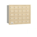 Salsbury Industries 3625SRP 4B+ Horizontal Mailbox - 25 A Doors - Sandstone - Rear Loading - Private Access