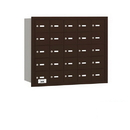 Salsbury Industries 3625ZRU 4B+ Horizontal Mailbox - 25 A Doors - Bronze - Rear Loading - USPS Access