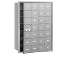 Salsbury Industries 3628AFP 4B+ Horizontal Mailbox (Includes Master Commercial Lock) - 28 A Doors (27 usable) - Aluminum - Front Loading - Private Access