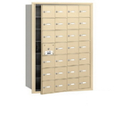 Salsbury Industries 3628SFU 4B+ Horizontal Mailbox - 28 A Doors (27 usable) - Sandstone - Front Loading - USPS Access