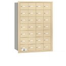 Salsbury Industries 3628SRP 4B+ Horizontal Mailbox - 28 A Doors - Sandstone - Rear Loading - Private Access