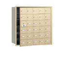 Salsbury Industries 3630SFU 4B+ Horizontal Mailbox - 30 A Doors (29 usable) - Sandstone - Front Loading - USPS Access