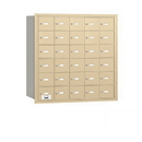 Salsbury Industries 3630SRP 4B+ Horizontal Mailbox - 30 A Doors - Sandstone - Rear Loading - Private Access