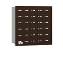 Salsbury Industries 3630ZRP 4B+ Horizontal Mailbox - 30 A Doors - Bronze - Rear Loading - Private Access