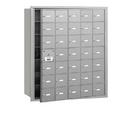 Salsbury Industries 3635AFU 4B+ Horizontal Mailbox - 35 A Doors (34 usable) - Aluminum - Front Loading - USPS Access