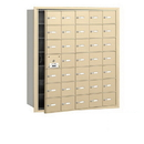 Salsbury Industries 3635SFU 4B+ Horizontal Mailbox - 35 A Doors (34 usable) - Sandstone - Front Loading - USPS Access