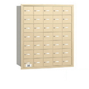 Salsbury Industries 3635SRP 4B+ Horizontal Mailbox - 35 A Doors - Sandstone - Rear Loading - Private Access