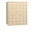 Salsbury Industries 3635SRU 4B+ Horizontal Mailbox - 35 A Doors - Sandstone - Rear Loading - USPS Access