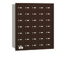 Salsbury Industries 3635ZRP 4B+ Horizontal Mailbox - 35 A Doors - Bronze - Rear Loading - Private Access