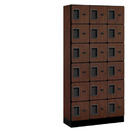 Salsbury Industries 36365MAH Designer Wood Locker - Six Tier Box Style - 3 Wide - 6 Feet High - 15 Inches Deep - Mahogany