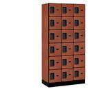 Salsbury Industries 36368CHE Designer Wood Locker - Six Tier Box Style - 3 Wide - 6 Feet High - 18 Inches Deep - Cherry