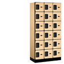 Salsbury Industries 36368MAP Designer Wood Locker - Six Tier Box Style - 3 Wide - 6 Feet High - 18 Inches Deep - Maple