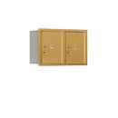 Salsbury Industries 3705D-2PGRP Recessed Mounted 4C Horizontal Mailbox - 5 Door High Unit (20 Inches) - Double Column - Stand-Alone Parcel Locker - 2 PL5's - Gold - Rear Loading - Private Access