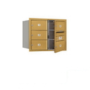 Salsbury Industries 3706D-05GFP Recessed Mounted 4C Horizontal Mailbox (Includes Master Commercial Locks)-6 Door High Unit (23 1/2 Inches)-Double Column-5 MB2 Doors-Gold-Front Loading-Private Access