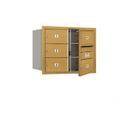 Salsbury Industries 3706D-05GFU Recessed Mounted 4C Horizontal Mailbox - 6 Door High Unit (23 1/2 Inches) - Double Column - 5 MB2 Doors - Gold - Front Loading - USPS Access