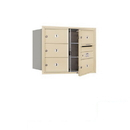 Salsbury Industries 3706D-05SFP Recessed Mounted 4C Horizontal Mailbox - 6 Door High Unit (23 1/2 Inches) - Double Column - 5 MB2 Doors - Sandstone - Front Loading - Private Access
