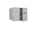 Salsbury Industries 3706D-06AFP Recessed Mounted 4C Horizontal Mailbox - 6 Door High Unit (23 1/2 Inches) - Double Column - 6 MB1 Doors / 1 PL4 - Aluminum - Front Loading - Private Access