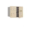 Salsbury Industries 3706D-06SFP Recessed Mounted 4C Horizontal Mailbox - 6 Door High Unit (23 1/2 Inches) - Double Column - 6 MB1 Doors / 1 PL4 - Sandstone - Front Loading - Private Access