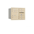 Salsbury Industries 3706D-06SRU Recessed Mounted 4C Horizontal Mailbox - 6 Door High Unit (23 1/2 Inches) - Double Column - 6 MB1 Doors / 1 PL4 - Sandstone - Rear Loading - USPS Access