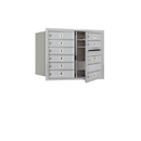 Salsbury Industries 3706D-09AFU Recessed Mounted 4C Horizontal Mailbox - 6 Door High Unit (23 1/2 Inches) - Double Column - 9 MB1 Doors - Aluminum - Front Loading - USPS Access