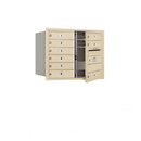 Salsbury Industries 3706D-09SFU Recessed Mounted 4C Horizontal Mailbox - 6 Door High Unit (23 1/2 Inches) - Double Column - 9 MB1 Doors - Sandstone - Front Loading - USPS Access