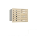 Salsbury Industries 3706D-09SRP Recessed Mounted 4C Horizontal Mailbox - 6 Door High Unit (23 1/2 Inches) - Double Column - 9 MB1 Doors - Sandstone - Rear Loading - Private Access