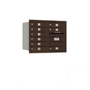 Salsbury Industries 3706D-09ZRP Recessed Mounted 4C Horizontal Mailbox - 6 Door High Unit (23 1/2 Inches) - Double Column - 9 MB1 Doors - Bronze - Rear Loading - Private Access
