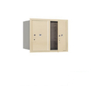 Salsbury Industries 3706D-2PSFU Recessed Mounted 4C Horizontal Mailbox-6 Door High Unit (23 1/2 Inches)-Double Column-Stand-Alone Parcel Locker-2 PL6's-Sandstone-Front Loading-USPS Access