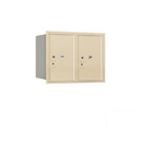 Salsbury Industries 3706D-2PSRP Recessed Mounted 4C Horizontal Mailbox-6 Door High Unit (23 1/2 Inches)-Double Column-Stand-Alone Parcel Locker-2 PL6's-Sandstone-Rear Loading-Private Access