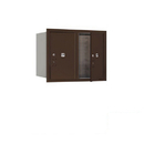 Salsbury Industries 3706D-2PZFP Recessed Mounted 4C Horizontal Mailbox-6 Door High Unit (23 1/2 Inches)-Double Column-Stand-Alone Parcel Locker-2 PL6's-Bronze-Front Loading-Private Access