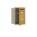 Salsbury Industries 3706S-01GFU Recessed Mounted 4C Horizontal Mailbox - 6 Door High Unit (23 1/2 Inches) - Single Column - 1 MB4 Door - Gold - Front Loading - USPS Access
