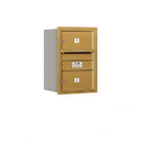 Salsbury Industries 3706S-02GRU Recessed Mounted 4C Horizontal Mailbox - 6 Door High Unit (23 1/2 Inches) - Single Column - 2 MB2 Doors - Gold - Rear Loading - USPS Access