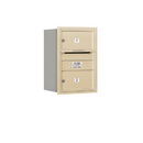 Salsbury Industries 3706S-02SRU Recessed Mounted 4C Horizontal Mailbox - 6 Door High Unit (23 1/2 Inches) - Single Column - 2 MB2 Doors - Sandstone - Rear Loading - USPS Access