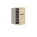 Salsbury Industries 3706S-04SFP Recessed Mounted 4C Horizontal Mailbox - 6 Door High Unit (23 1/2 Inches) - Single Column - 4 MB1 Doors - Sandstone - Front Loading - Private Access