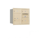 Salsbury Industries 3707D-03SRP Recessed Mounted 4C Horizontal Mailbox - 7 Door High Unit (27 Inches) - Double Column - 2 MB2 Doors / 1 MB3 Door / 1 PL5 - Sandstone - Rear Loading - Private Access