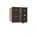 Salsbury Industries 3707D-03ZFP Recessed Mounted 4C Horizontal Mailbox - 7 Door High Unit (27 Inches) - Double Column - 2 MB2 Doors / 1 MB3 Door / 1 PL5 - Bronze - Front Loading - Private Access