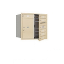 Salsbury Industries 3707D-06SFU Recessed Mounted 4C Horizontal Mailbox - 7 Door High Unit (27 Inches) - Double Column - 6 MB1 Doors / 1 PL6 - Sandstone - Front Loading - USPS Access