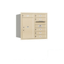 Salsbury Industries 3707D-06SRP Recessed Mounted 4C Horizontal Mailbox - 7 Door High Unit (27 Inches) - Double Column - 6 MB1 Doors / 1 PL6 - Sandstone - Rear Loading - Private Access