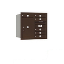 Salsbury Industries 3707D-06ZRP Recessed Mounted 4C Horizontal Mailbox - 7 Door High Unit (27 Inches) - Double Column - 6 MB1 Doors / 1 PL6 - Bronze - Rear Loading - Private Access