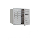 Salsbury Industries 3707D-12AFP Recessed Mounted 4C Horizontal Mailbox (Includes Master Commercial Lock)-7 Door High Unit (27 Inches)-Double Column-12 MB1 Doors-Aluminum-Front Loading-Private Access